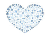 Snowflake heart — Stock Vector
