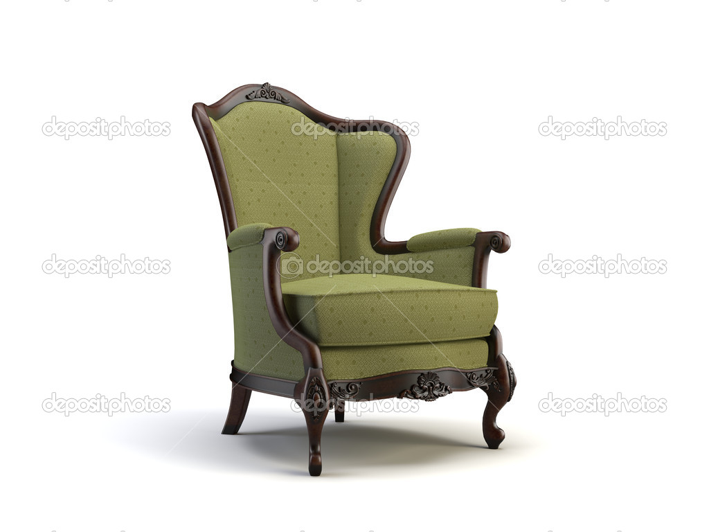 Chair on the white background — Stock Photo #1007226