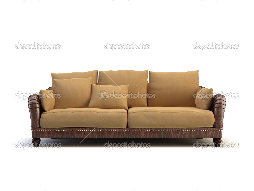 Sofa on the white background — Stock Photo #1007734