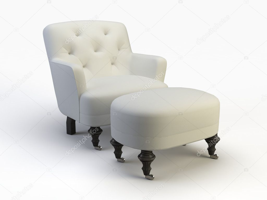 Nice chair object on the white background — Stock Photo #1007928
