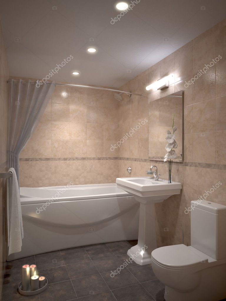 Nice bathroom stock photo 3dimentii 1008022 for Pics of nice bathrooms