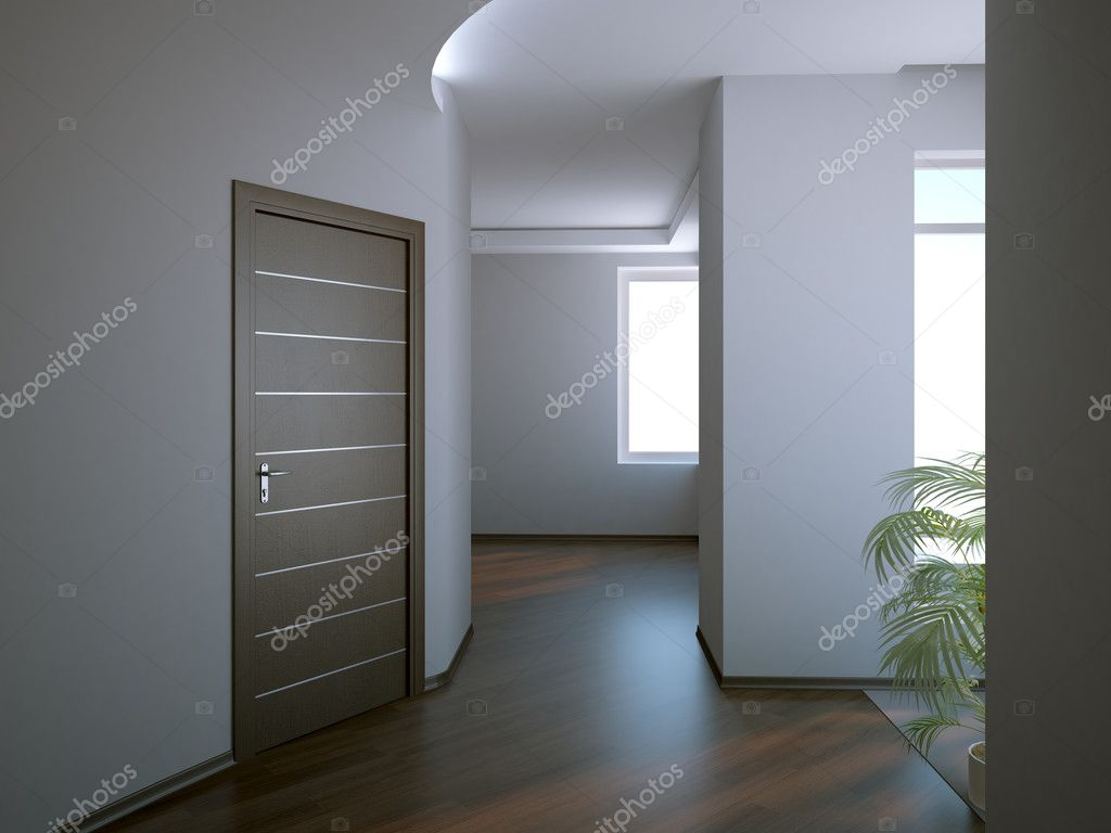 Modern interior in new home  Stock Photo #1008106