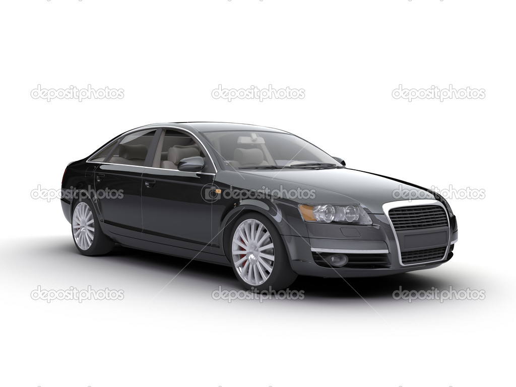 Nice car on the white — Stock Photo #1008200