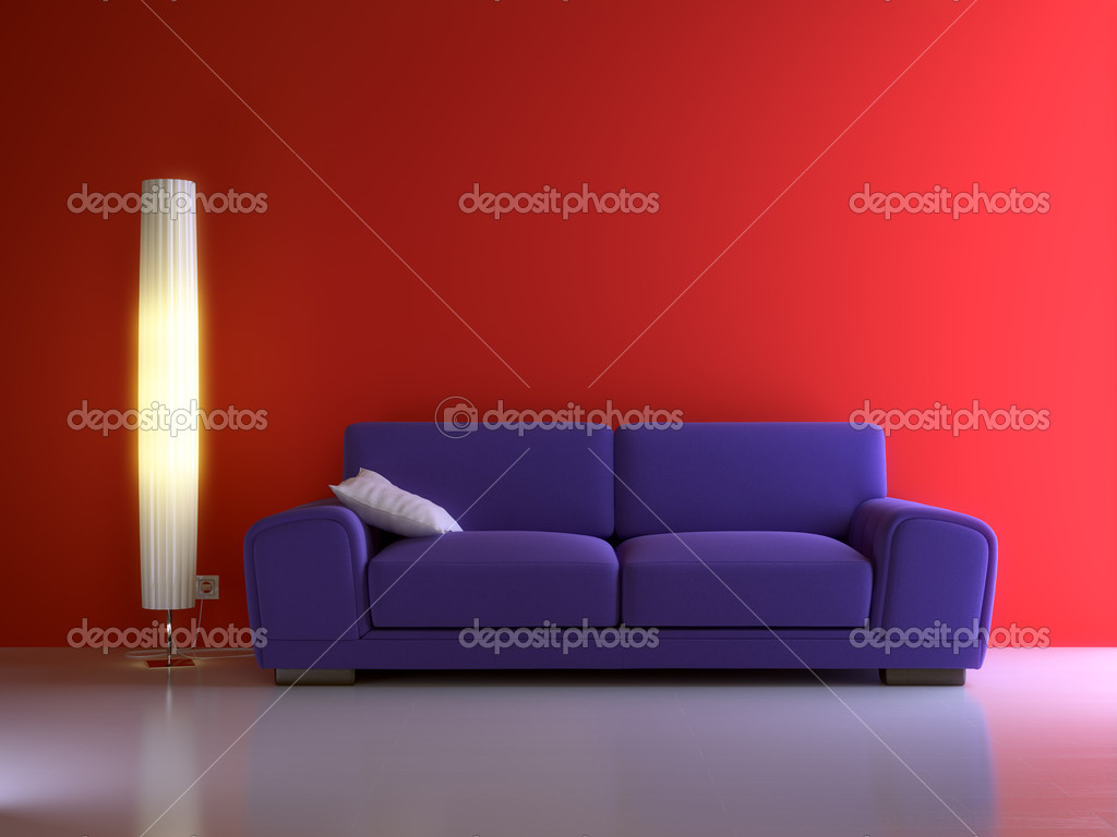 3d interior composition and modern stile — Foto de Stock   #1008626