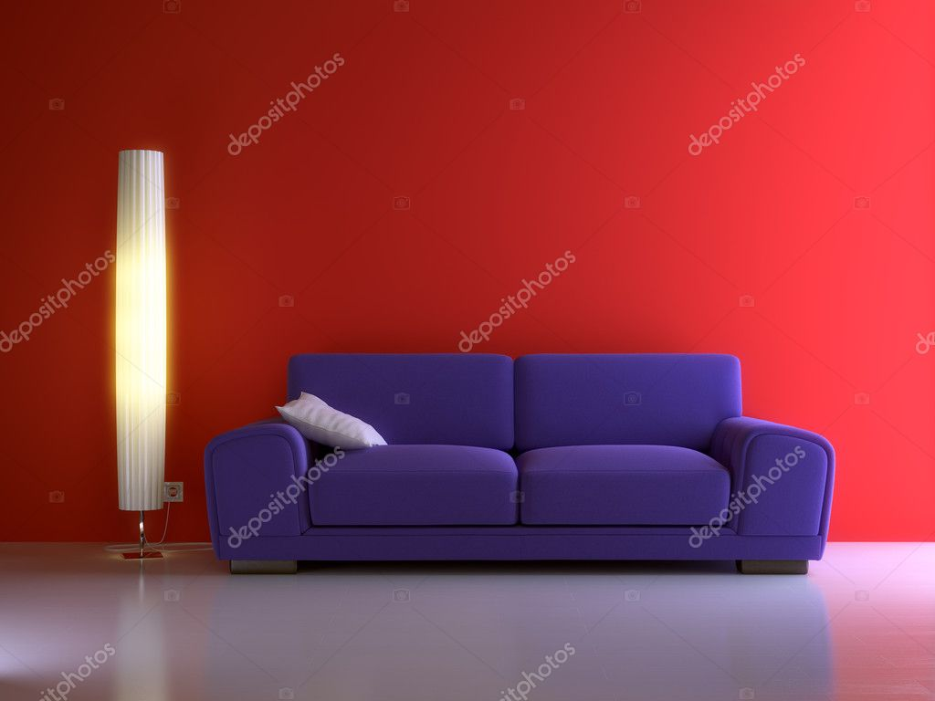 3d interior composition and modern stile  Foto Stock #1008626
