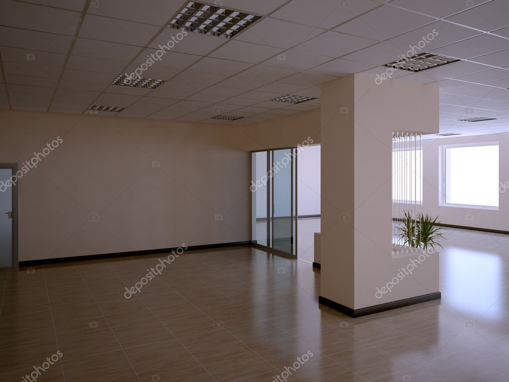 Nice 3d office space interior  Stock Photo #1008671