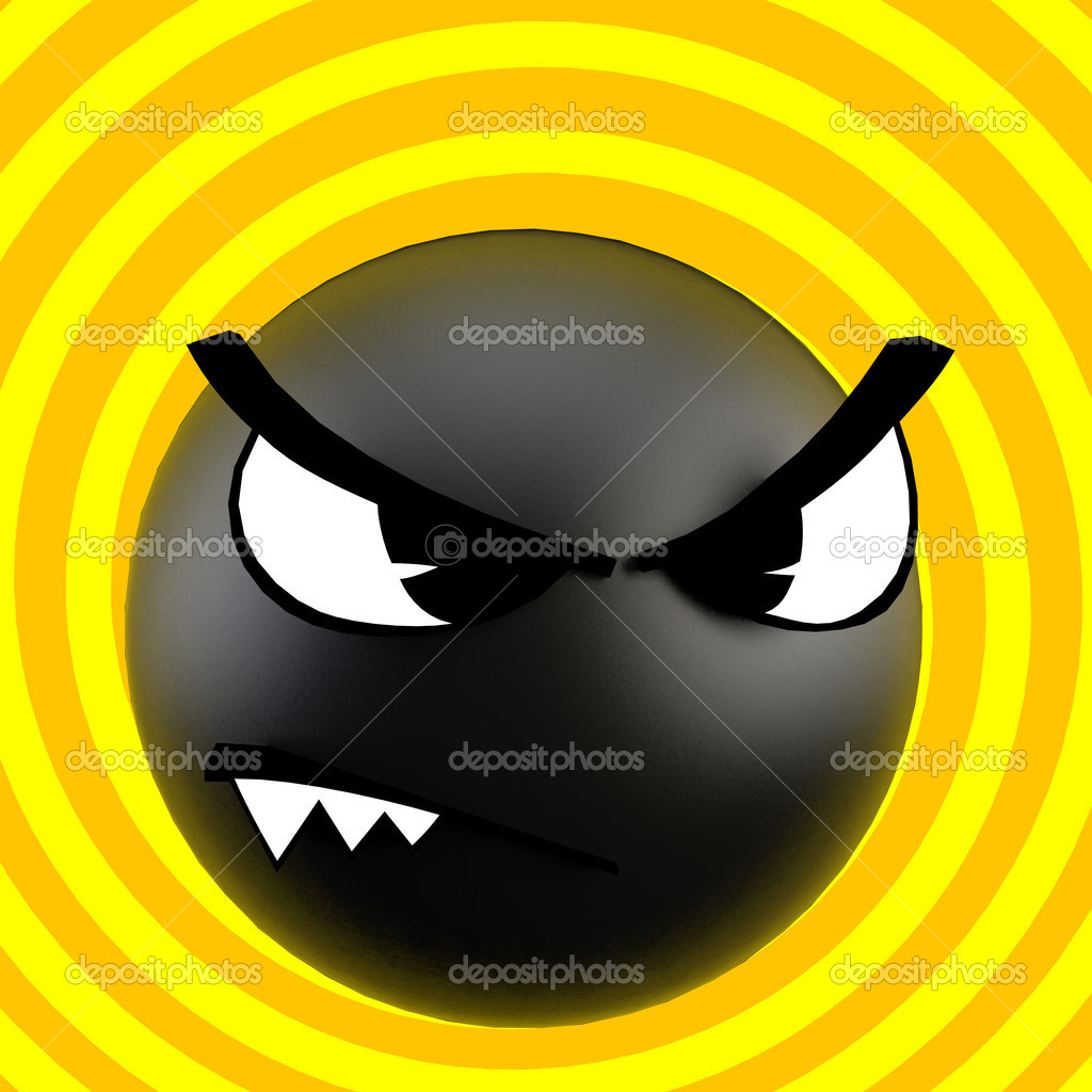 3d image funny scary bomb — Stock Photo #1770019