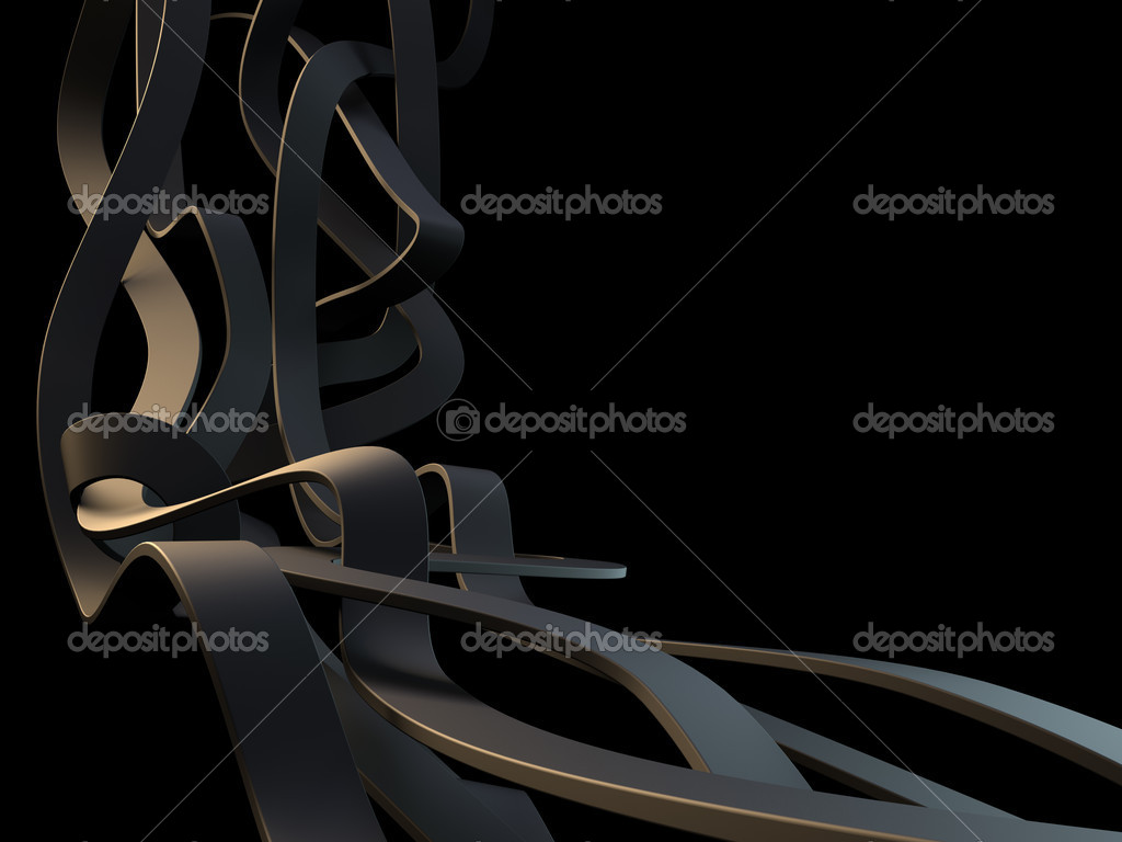 3d lines on black background — Stock Photo #1770097