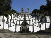 Beautiful church and stairs in Bom Jesus — Stock Photo