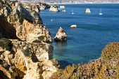 Beautiful beach of Algarve, Lagos, Portu — Stock Photo