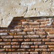 Royalty-Free Stock Photo: The facade view of the old brick wall fo