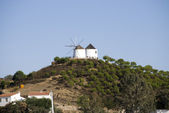 Old Wind mills on the mountain of Spain — Stock Photo