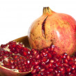 Pomegranate with seeds isolated — Stock Photo #1025692