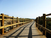 Bridge at ocean — Stock Photo