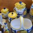 Set of colored handmade ceramics — Stock Photo #1252168