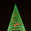 Christmas and New Year illumination tree - Stock Photo