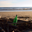 Bottle on the beach — Stock Photo