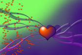 Valentine's abstract background — Stock Photo