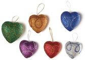 Multi-coloured hearts — Stock Photo