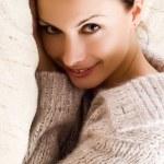 Beautiful woman lying and smile — Stock Photo