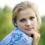 een prachtige blond haired blauwe eyed model — Stockfoto