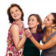 Group of happy pretty laughing girls — Stock Photo #1015813