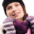 Beautiful Winter Woman - Stock Photo