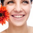 Smiling woman mouth with great teeth. — Stock Photo