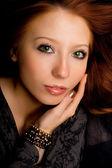 Studio portrait of a beautiful young gir — Stock Photo