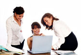 Successful business team working — Stok fotoğraf