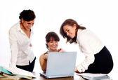 úspěšný obchodní tým pracovní — Stock fotografie