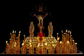 The Christian church candlestick — 图库照片