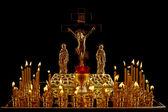 基督教教会烛台 — 图库照片