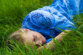 Young beautiful female relaxing — Stock Photo