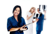Smiling medical . Doctors and nurs — Stock Photo