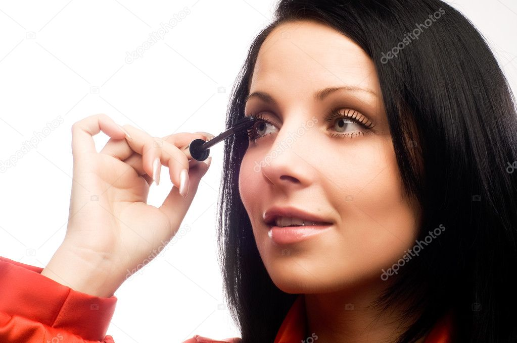 Beautiful woman with mascara — Stock Photo #1017419