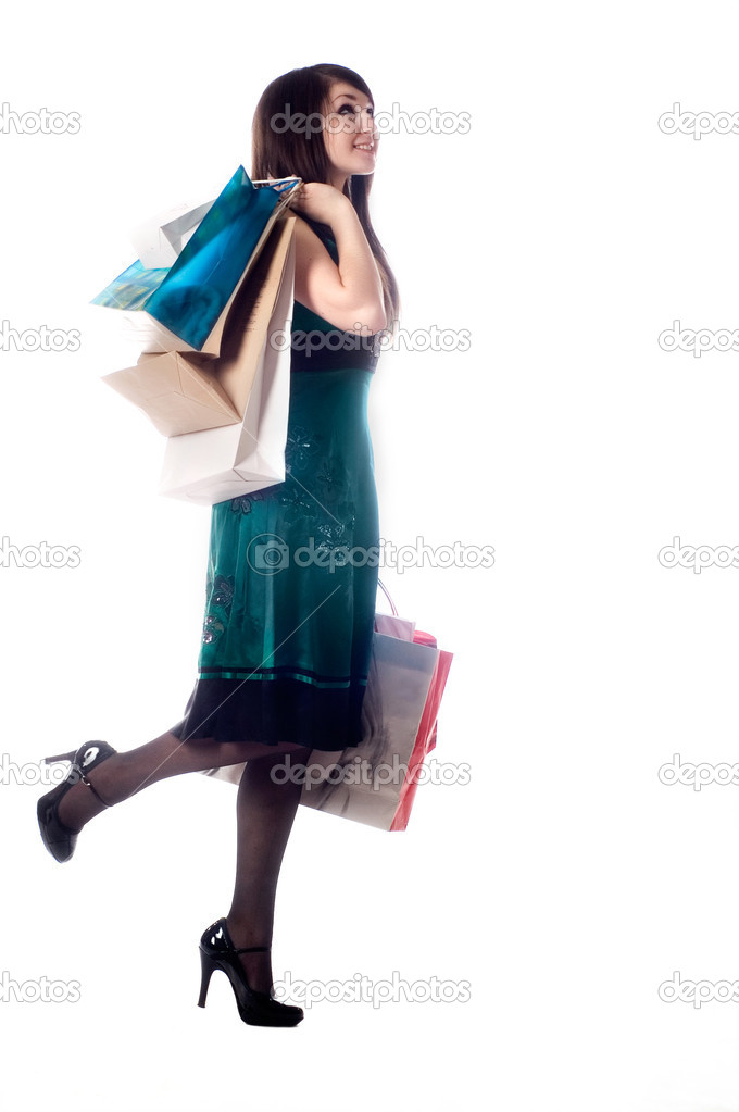 An attractive young lady out shopping. — Stock Photo #1017448