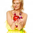 Young beautiful girl with fruit — Stock Photo #1020071