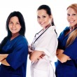 Smiling medical with stethoscopes — Foto de Stock