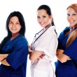 Smiling medical with stethoscopes - Stockfoto