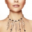 Young woman with necklace — Stock Photo