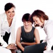 Stock Photo: Successful business team working