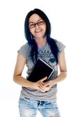 Young smiling student woman. — Stock Photo