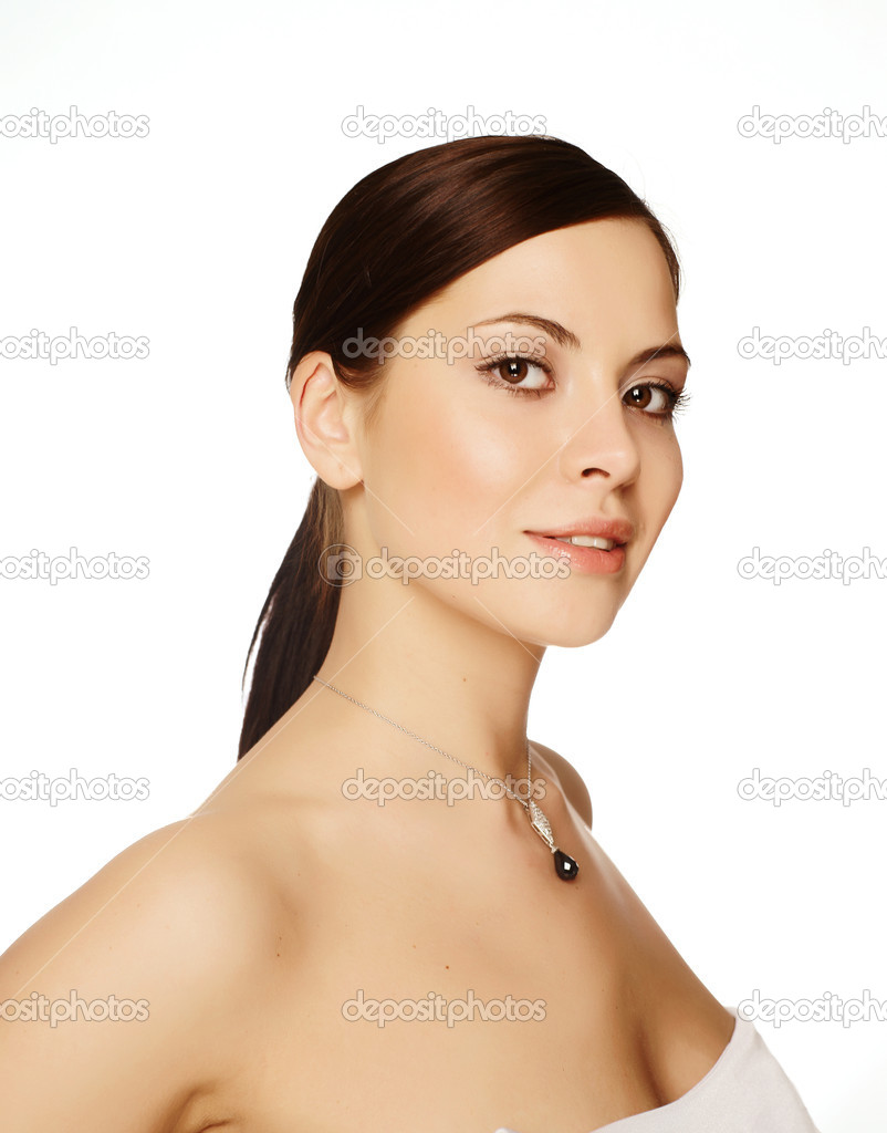 Portrait of charm young beautiful woman  Stock Photo #1020292