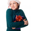 Smiling woman with a gift — Stock Photo #1638331