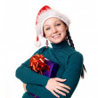 Christmas woman smiling - Stock Photo