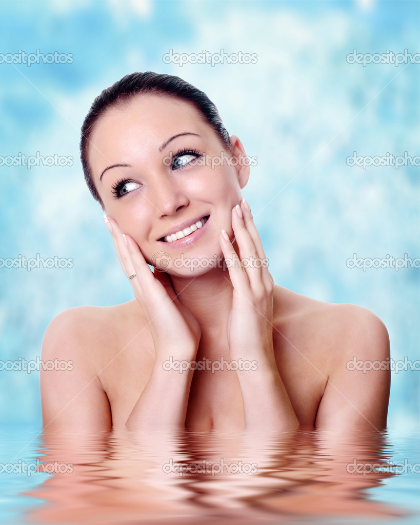 Facial massage isolated on white  — Stock Photo #1639164