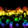 Foto Stock: Bright colorful light circles