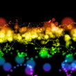 Bright colorful light circles - Stock Photo