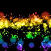 Heldere kleurrijke licht cirkels — Stockfoto